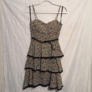 B darlin floral ruffled belted dress PRETTY! 5/6